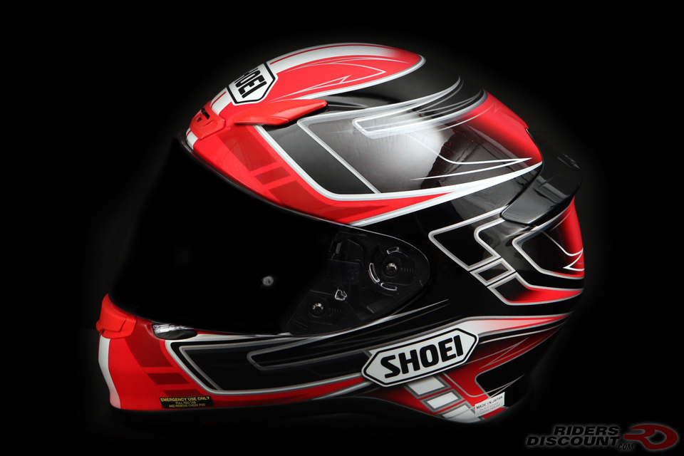 $379 Shoei RF-1200 Valkyrie Red/Black Helmet