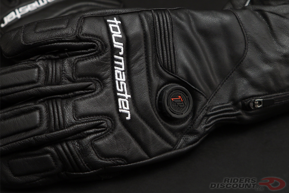 Tourmaster SYNERGY 7.4V Black Leather Glove