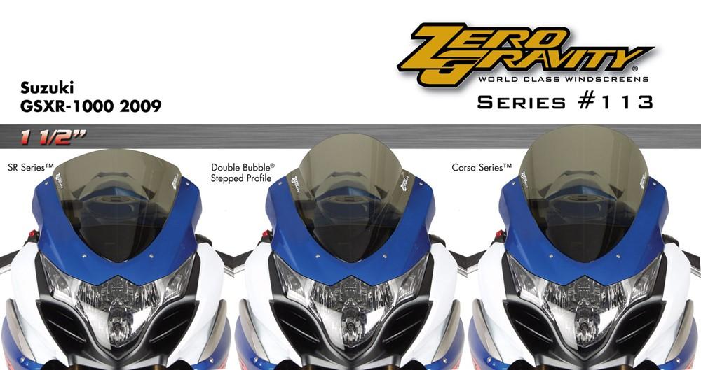 Zero gravity optically correct screens for gsxr 600 2011 zero_gravity, corsa_series, motorcycle_screen