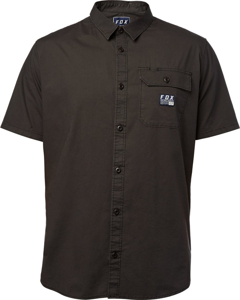 $32.16 Fox Racing Mens Brig Short Sleeve Woven Button Up #1041783
