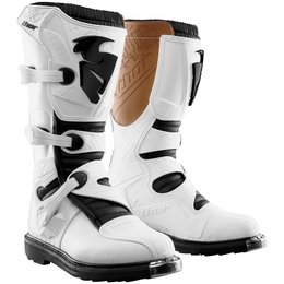 Thor Mens Blitz CE Certified Boots With MX Soles White
