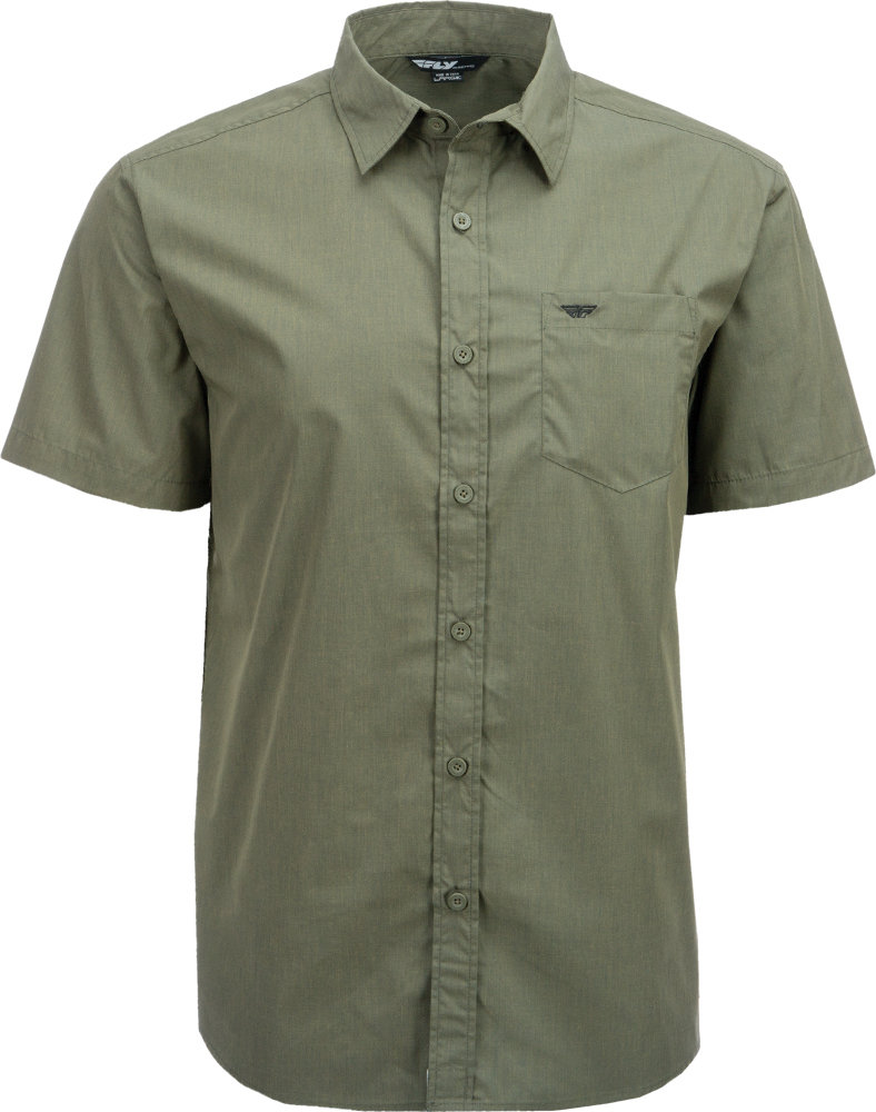 Mens Green Button Up Shirt Custom Shirt