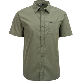 Fly Racing Mens Button-Up Short Sleeve Woven Shirt Green