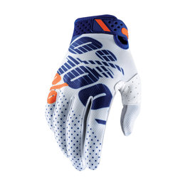 100% Mens Ridefit MX Motocross Offroad Riding Gloves White
