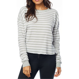 Fox Racing Womens Striped Out Long Sleeve Thermal Crop Top White