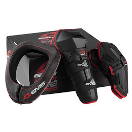 Black, Red Evs Youth Slam Combo With Option Guards And R2 Race Collar 2014 Black Red