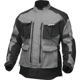 Fly Racing Mens Terra Trek 4 Textile Jacket Silver