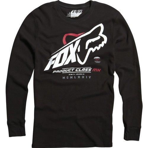 Fox racing mens constant shift long sleeve thermal for Mens black thermal t shirts