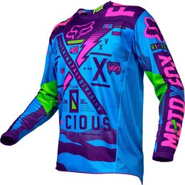 Fox Racing Mens Special Edition 180 Vicious Jersey Blue