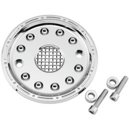 Biker's Choice Outlaw Sprocket Cover Kit Harley-Davidson Chrome 351758 Unpainted