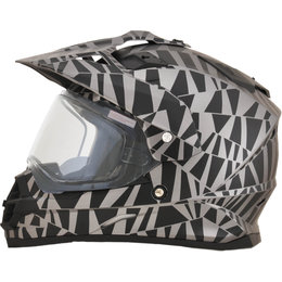 AFX FX-39S FX39 Dazzle Snowmobile Helmet With Dual Pane Shield Grey