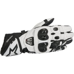Alpinestars Mens GP Pro R2 Leather Riding Gloves White