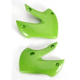 Acerbis Radiator Shrouds Green For Kawasaki KX65 KLX110 00-11