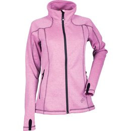 Divas Womens Performance Lightweight Fleece Jacket Pink