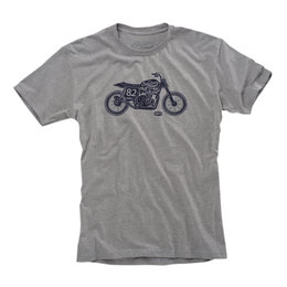 100% Mens Motel Cotton Blend Graphic T-Shirt Grey