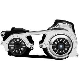 Belt Drives 2 Inch 2-Piece Motor Plate Kit Harley FLH FLT Black EV2PH-B17-WBC Black