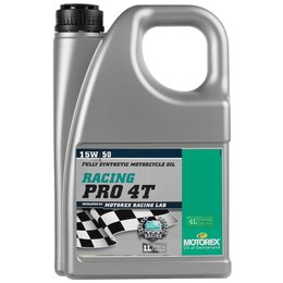 Motorex Racing Pro 4T Full Synthetic Oil For 4-Stroke MX Engine 15W50 4 Liter