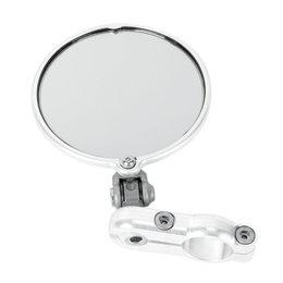 CRG Hindsight LS Lane Split Right 3 In Round Folding Bar-End Mirror Each Silver