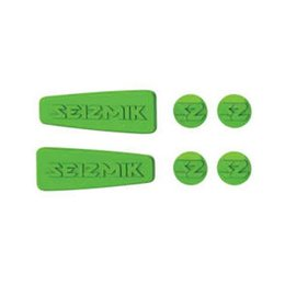 Seizmik UTV Weather Sealed Caps For Pursuit Side View Mirrors Green Green