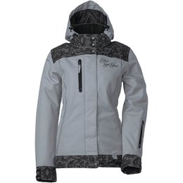 Divas Womens Lace Collection Textile Snow Jacket 2X Light Grey