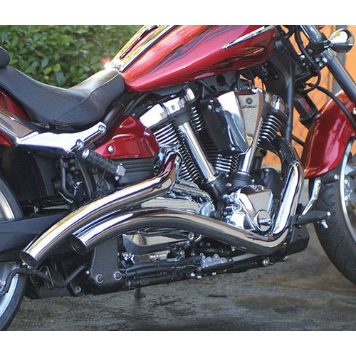 $537.65 LA Choppers Curved Exhaust System For Yamaha #167296