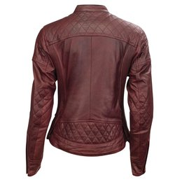 RSD Womens Riot Leather Riding Jacket Red