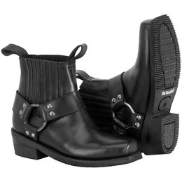River Road Womens Lo Cut Ranger Harness Leather Boots Black