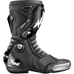 Black Spidi Sport Xp3 Boots Us 8.5 Eu 42