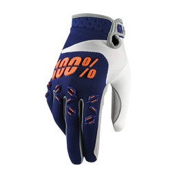 100% Youth Boys Airmatic MX Motocross Offroad Riding Gloves Blue