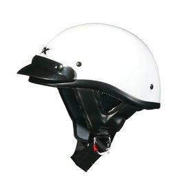 White Solid Afx Mens Fx-70 Fx70 Half Helmet White
