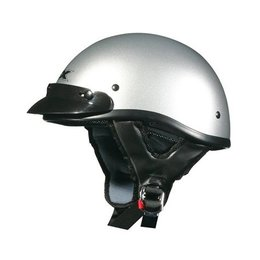 Silver Solid Afx Mens Fx-70 Fx70 Half Helmet Silver