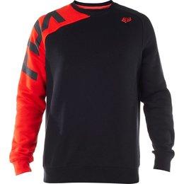 Fox Racing Mens Race Crew Neck Pullover Sweatshirt Black
