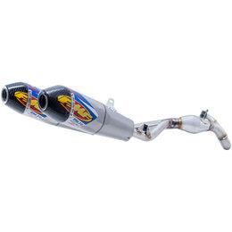 FMF Factory 4.1 RCT Dual Full Exhaust Honda CRF450R Titanium Carbon Fiber 041551 Unpainted