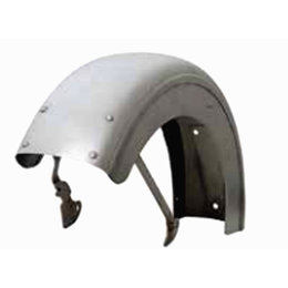 Paughco Flat Rear Fender 6 In Steel Custom Big Twin Silver