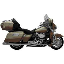 Chrome Supertrapp Fat Shot Slip-on Exhaust For Harley Flh Flt 95-11