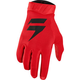 Shift Racing Mens 3lack Black Label Air Gloves Red