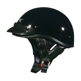 Black Solid Afx Mens Fx-70 Fx70 Half Helmet Black