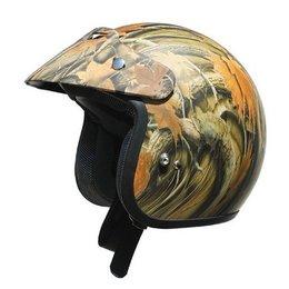 Camo Afx Boys Fx-75y Fx75y Open Face Helmet
