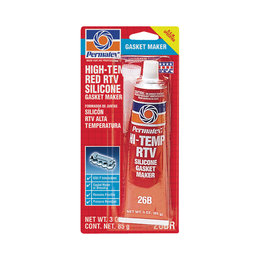 Permatex High-Temp RVT Silicone Gasket Maker 3 Ounces Red 81160