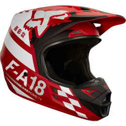 Fox Racing V1 Sayak MX Helmet Red