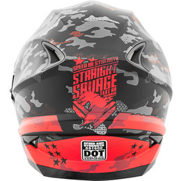 Speed & Strength Straight Savage SS1600 Full Face Helmet Red