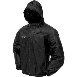 Black Frogg Toggs Pro Action Rain Jacket Pa63102-01md