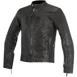 Alpinestars Mens Oscar Collection Brass Armored Leather Jacket Black