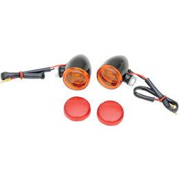 Drag Specialties Mini Deuce Bolt Mount Bullet Marker Lights Black 2040-1043