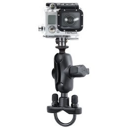RAM Mount Hbar Rail Mount U-Bolt Short Double Socket Arm 1 Inch Ball GoPro Adptr