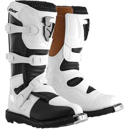 Thor Womens Blitz CE Certified Boots With MX Soles White