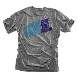 100% Mens Daytona Cotton Blend Graphic T-Shirt Grey