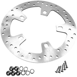 Biker's Choice Drilled Front Brake Rotor Harley-Davidson FLHT FLHX Steel 144152 Unpainted