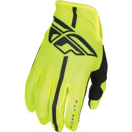 Fly Racing Youth Boys Lite Race Gloves Yellow