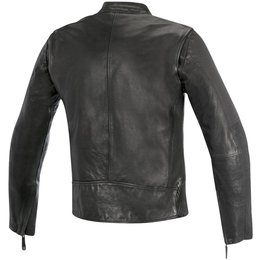 Alpinestars Mens Oscar Collection Brass Armored Leather Jacket Black